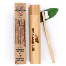 Himalayan Blue Kids Natural Biodegradable Bamboo Toothbrush & Travel Holder Case