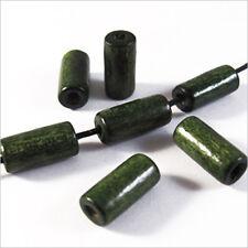 set di 50 perline in legno Tubi 6 x 12 mm Verde Scuro