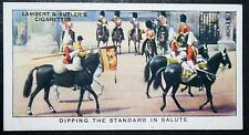 Life Guards   Dipped Standard Salute     Vintage Colour Card  VGC