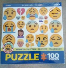 EuroGraphics Kids  Emoji Puzzle Sadness 100-Piece Jigsaw Puzzle