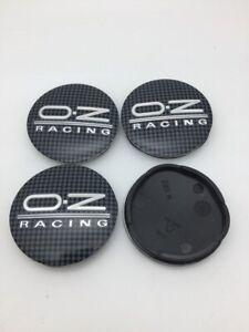 4pcs 55 mm for OZ Racing M582 Black Grey Alloy Wheel Center Caps Hub Rim Caps