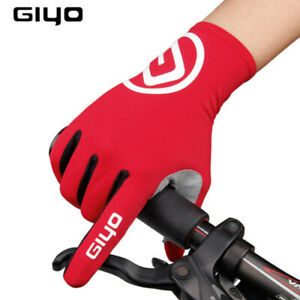 GIYO Touch Screen Long Full Fingers Gel Sport Cycling Gloves Riding Racing MTB