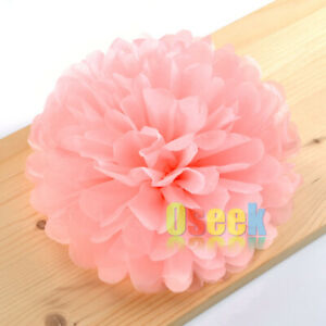 "12 x 25cm (10"") Tissue Paper Pom Poms Flower Wedding Birthday Party Decorations"