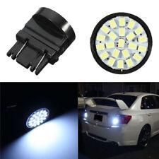 2Pcs 22-SMD Car 3157 LED Bulbs Brake Tail Stop Light 3057 3457 4157 3047 White