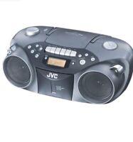 JVC RCEX26B Portable AM / FM / CD / Cassette Boombox W/ Power Cord NO REMOTE BLK