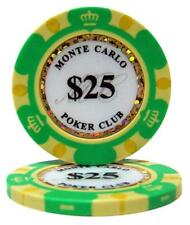 (25) $25 MONTE CARLO CASINO POKER CHIPS