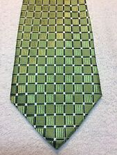 COVINGTON MENS TIE 3.5 X 61 GREEN WITH BLUE AND WHITE