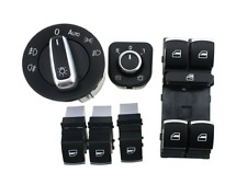 Chrome Headlight Window Switch VW Passat B6 Jetta Golf MK5 MK6 6set