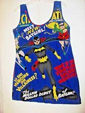 DC COMICS BATMAN & BATGIRL SLEEP/LOUNGE SLIP * JUNIOR  XL (15-17) * VERY COOL!!