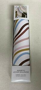 "NEW Striped Magnetic School Locker Wallpaper Decor (2-Sheets) 12"" x18"" Magnet"