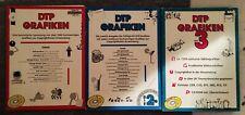 DTP Grafiken und DTP Grafik-Archiv - Copyrightfreie Grafiken -3 CD-ROMs 3 Bücher