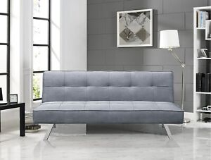 """Futon Sofa Couch 66.1"""" Wide Armless Convertible & Comfortable"""