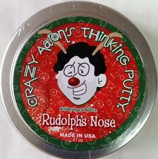 "Christmas Rudolph's Nose Holiday Crazy Aaron's Thinking Putty New sm 2"" tin"