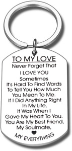 To My Love Keychain Gift For Husband Wife Anniversary Valentines Day Birthday