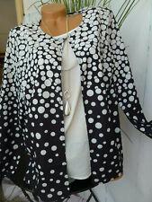 Paola Bluse Shirt Lagenshirt Gr 46 bis 60 Übergröße weiß schwarz (748)