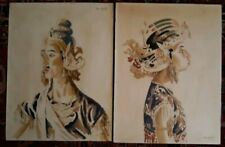 Ben Silbert, Russian & Ny Artist Two Watercolor'S, Javanese & Java