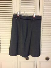 Larry Levine Women Stretch Black Skirt Size 8 Casual Polyester Blend  NEW NWT