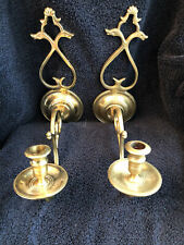Pair of Virginia Metalcrafters Colonial Williamsburg Cw 16-3 Brass Wall Sconces