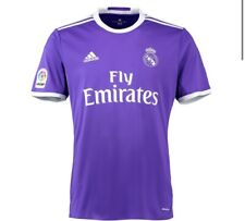 Real Madrid 2016/2017 Away Soccer Jersey Purple White Men's Size Large