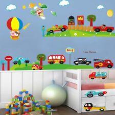 Animal Wall Stickers Cars Monkey Jungle Zoo Bus Balloon Nursery Baby Room Decal