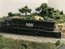 HO Athearn #4406 SD40-2 N&W DC Powered Modified Long end forward details addedOB