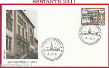 ITALIA FDC ROMA 1991 LICEO GINNASIO AZUNI SASSARI ANNULLO TORINO T964