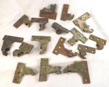16 Vintage Cast Iron Hinges Hardware As Found