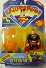 Animated Superman Vision Blast Deluxe Action Figure with Light-Up Action .