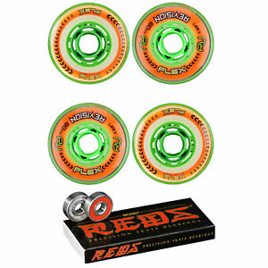 Revision Wheels Inline Roller Hockey Flex XS 76A With Bones Bearings (4-Pack)