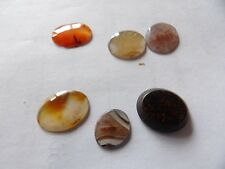 Lot Of 6 Victorian Agate, Carnelian, Heliotrope Stones For Spares / Repair No4