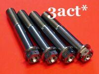 4 Flange M10 x 60mm Ti/Titanium Bolts Ducati Front Disc Brake Caliper Wire Holes