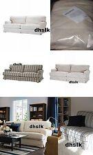 IKEA Ekeskog Sofa Bed SLIPCOVER Cover PALYCKE Beige Floral 0r SKOGA Blue Stripes