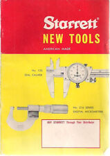 1972 STARRETT New Tools illustrated 28-page catalog