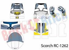 Lego Star Wars Scorch Delta Squad Custom Clone Trooper Water Slide Decal - New
