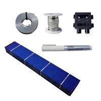 "20/40/80/108pcs 1x6""/156x26 Solar Cells Kit w/T-B Wire,Flux,J-box for DIY Panel"