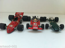 3 X Politoys F1 - BRM 136 & March (1/32) + March Ford 721 (1/25)