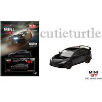 Mini GT 2017 Honda Civic Type R FK8 1:64 Diecast Car Crystal Black MGT00015