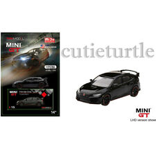 Mini GT 2017 Honda Civic Type R FK8 1:64 Diecast Car Crystal Black MGT00015