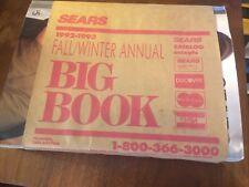 "SEARS CATALOG 1992-1993 Fall/Winter Anual ""Big Book"""