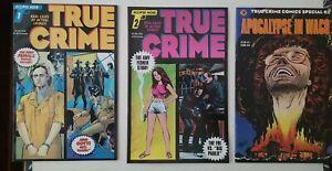 True Crime #1 #2 & Apocalypse in Waco  -  Eclipse Noir VF