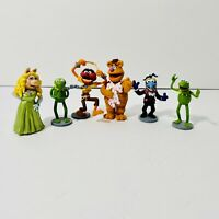 "Muppets Disney Store PVC Figures 2.5""  - Kermit Miss Piggy Fozzie Gonzo Animal"