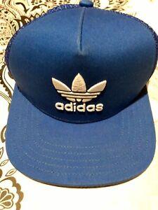 NEW Mens Adidas ROYAY/BLUE  Original Trefoil Mesh Hat Trucker ONE SIZE BNWT L@@K