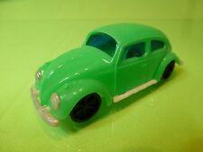 VINTAGE VINYL PLASTIC VW VOLKSWAGEN BEETLE BUG - GREEN L10.0cm - GOOD -HONG KONG