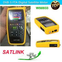 SATLink WS-6933 FTA Satellite Ultra-Fast Compact HD DVB-S2 Signal Finder Meter