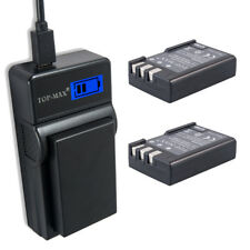 2x EN-EL9 Battery+ USB LCD Charger for Nikon Battery D40 D40x D60 D3000 D5000