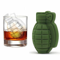 3D Grenade Ice Cube Mold Maker Silicone Tray Great Bar Party Military