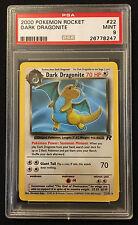 PSA 9 MINT 2000 Pokemon Team Rocket Dark Dragonite 22/82