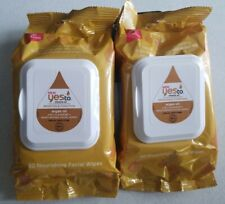 Yes To Miracle Oil Brighten Condition Argan Oil 2-in-1 Facial Wipes 30 Wipes- X2
