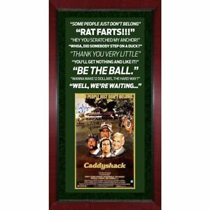 Michael O'Keefe Cindy Morgan signed CaddyShack poster framed 2 auto Steiner COA