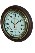Premium handcrafted Wall Clock Antique Design Wooden and Brass Construction